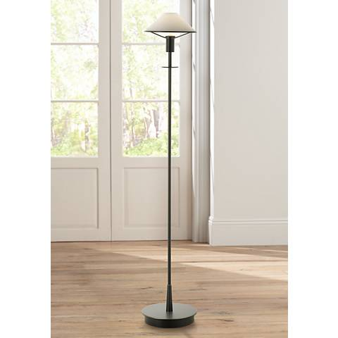 Holtkoetter Old Bronze True White Glass Floor Lamp