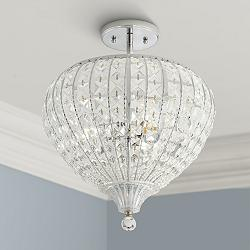 "Marisse 14 1/2"" Wide 3-Light Crystal Ceiling Light"