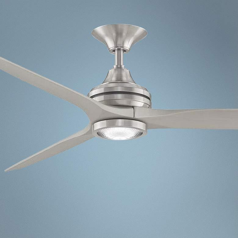 "60"" Fanimation Spitfire Brushed Nickel LED Ceiling Fan"