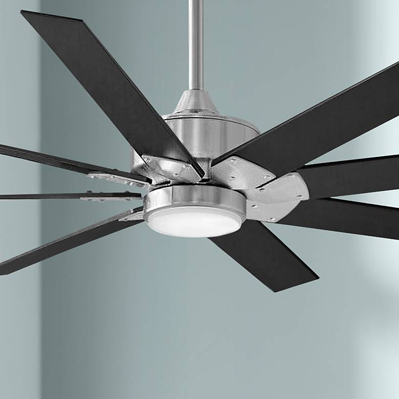 "64"" Fanimation Levon Custom Brushed Nickel LED Ceiling Fan"