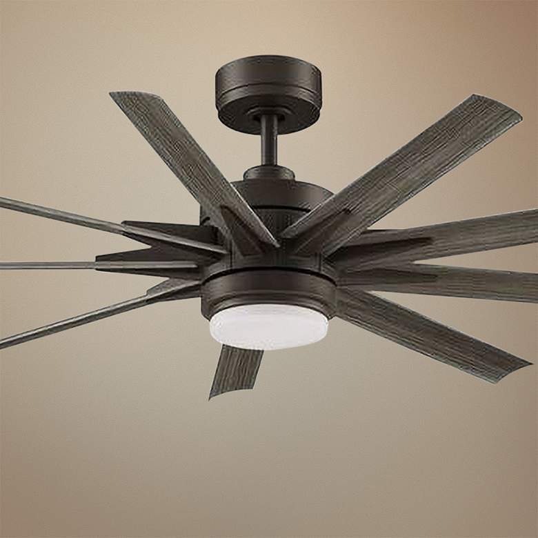 "56"" Fanimation Odyn Custom Matte Greige LED Ceiling Fan"