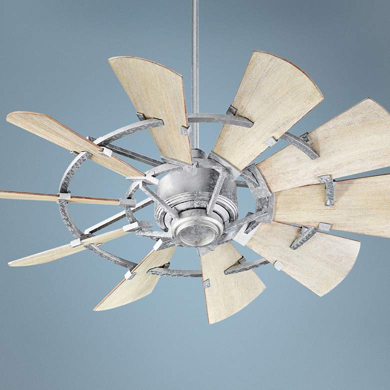 "44"" Quorum Windmill Galvanized Ceiling Fan"