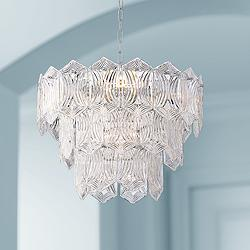 "Possini Euro Darlene 20"" Wide 5-Light Crystal Chandelier"
