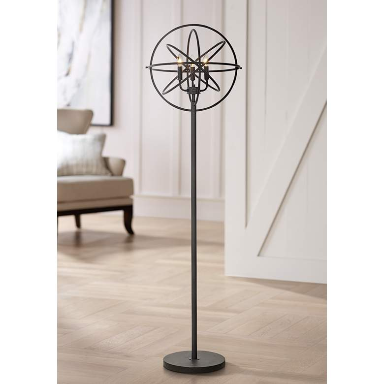Rigel Oil-Rubbed Bronze 3-Light Chandelier Floor Lamp