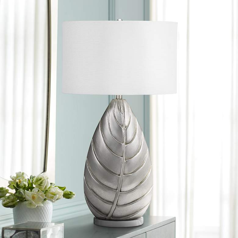 Dolan Silver Leaf LED Table Lamp