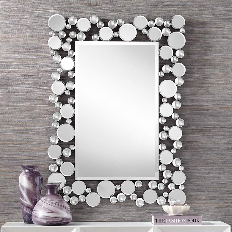 "Alfaro 30"" x 42"" Scattered Cluster Frame Wall Mirror"