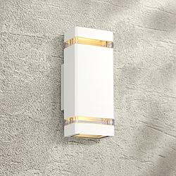 "Skyridge 10 1/2"" High White Up-Down Outdoor Wall Light"