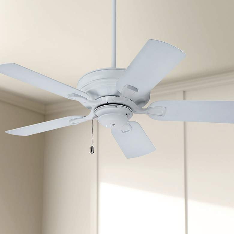 "42"" Emerson Veranda Outdoor Satin White Ceiling Fan"