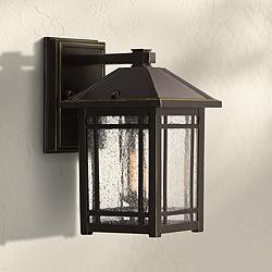 "Cedar Point 9 3/4"" High Palladian Bronze Outdoor Wall Light"