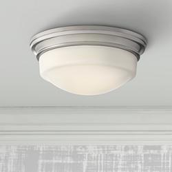 "Quoizel Stark 7 1/4"" Wide Brushed Nickel LED Ceiling Light"