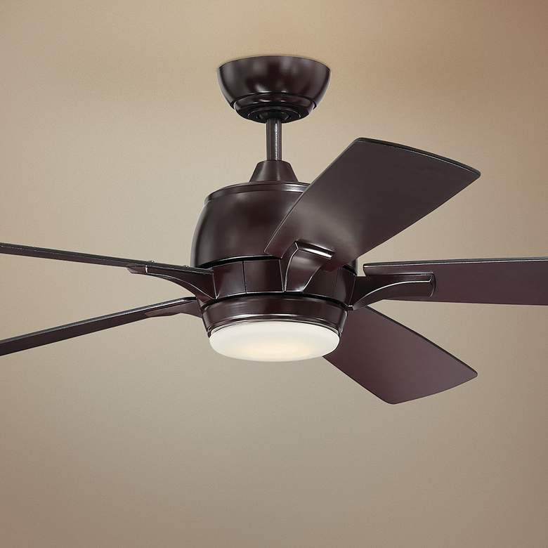 "52"" Craftmade Stellar Oiled Bronze LED Ceiling Fan"