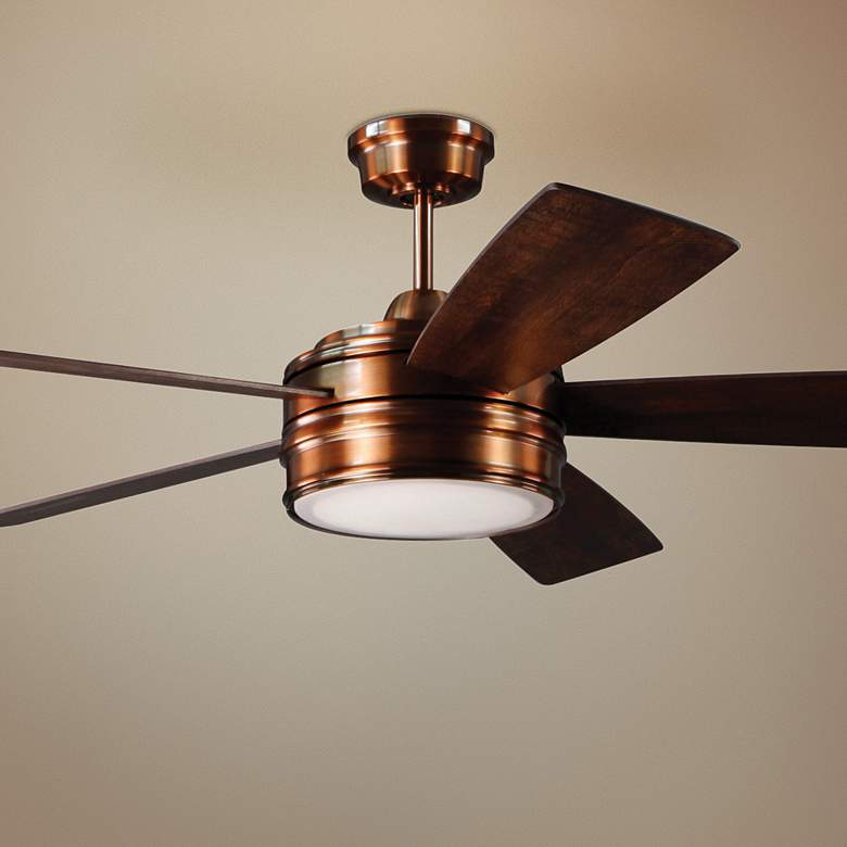 "52"" Craftmade Braxton Brushed Copper LED Ceiling Fan"
