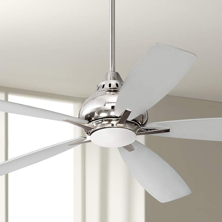 "52"" Craftmade Swyft Polished Nickel LED Ceiling Fan"