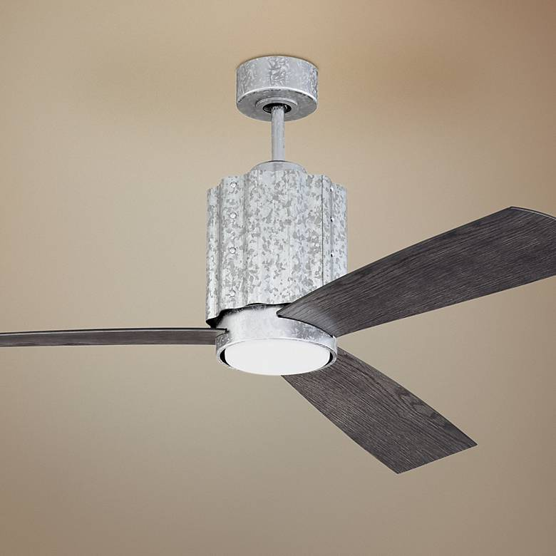 "52"" Craftmade Pioneer Galvanized LED Wet Ceiling Fan"