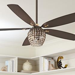 "56"" Minka Aire Bling Oil Rubbed Bronze LED Ceiling Fan"