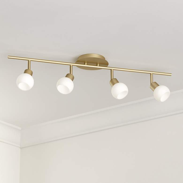 Pro Track® Globe Brass 4-Light LED Plug-In Track Fixture