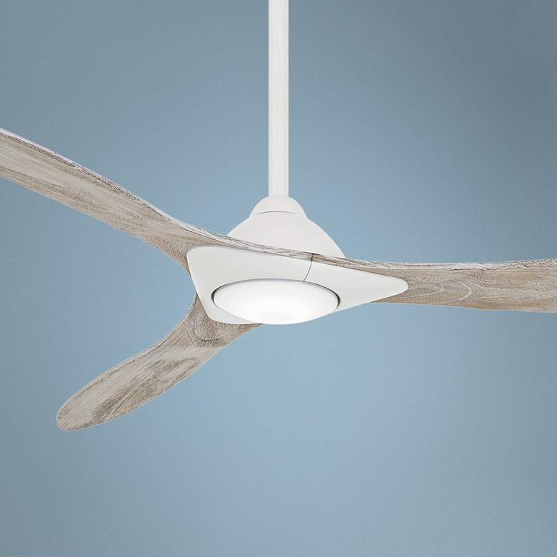 "60"" Minka Aire Sleek Smart Fan White LED Ceiling Fan"
