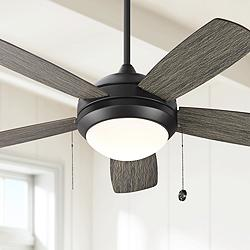"44"" Monte Carlo Discus II Aged Pewter LED Ceiling Fan"