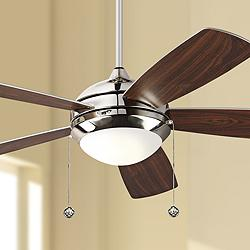 "52"" Monte Carlo Discus Polished Nickel LED Ceiling Fan"