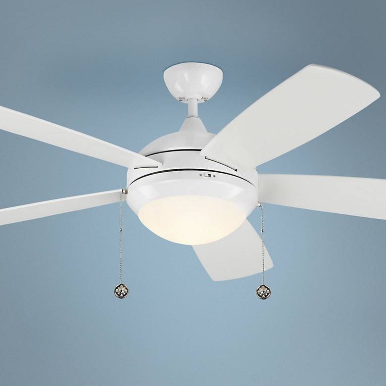 "52"" Monte Carlo Discus White LED Ceiling Fan"