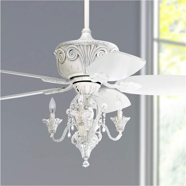 "44"" Casa Deville™ Antique White LED Ceiling Fan"