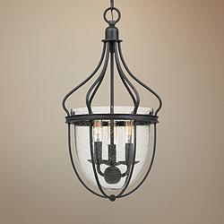 "Quoizel Colony 11"" Wide Gray Ash 3-Light Foyer Pendant"