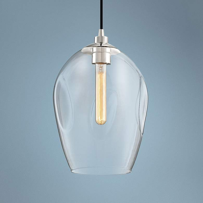 "Quoizel Nostalgia 9 1/2"" Wide Polished Nickel Mini Pendant"