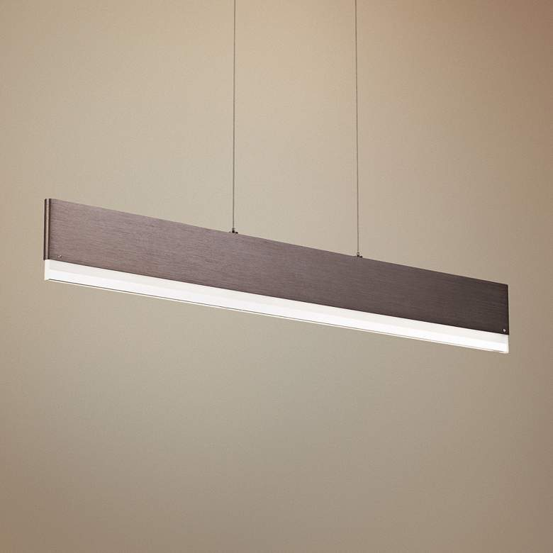 "Quoizel Cutlas 36"" Wide Brushed Bronze LED Island"
