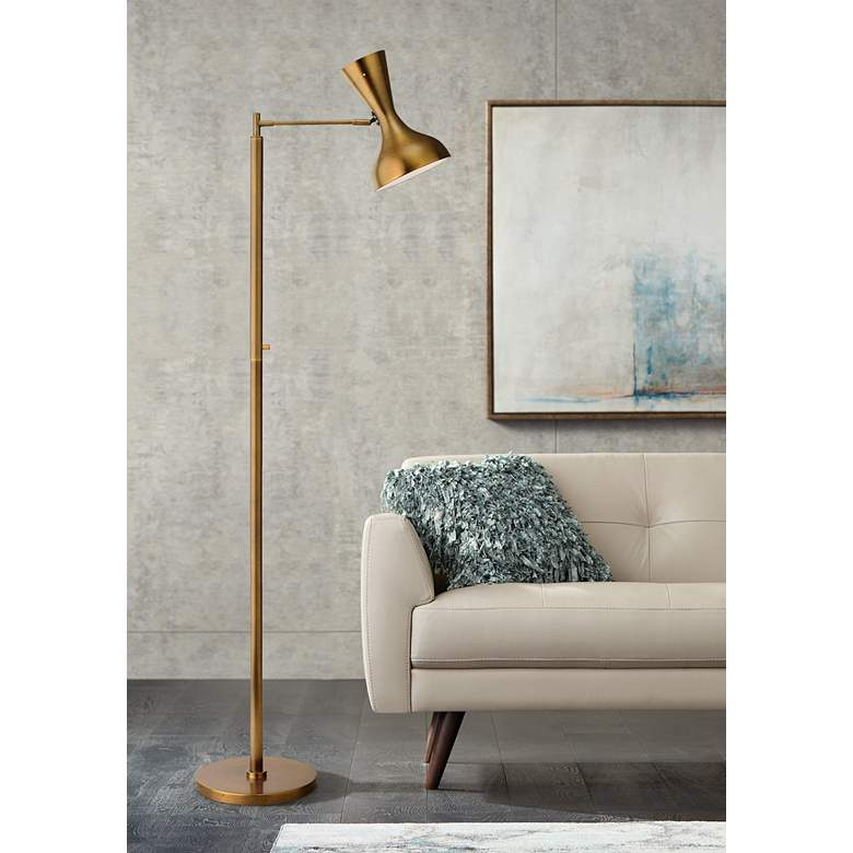 Jamie Young Pisa Antique Brass 2-Directional Floor Lamp