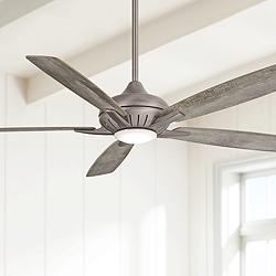 "60"" Minka Aire Dyno XL Smart Fan Nickel LED Ceiling Fan"
