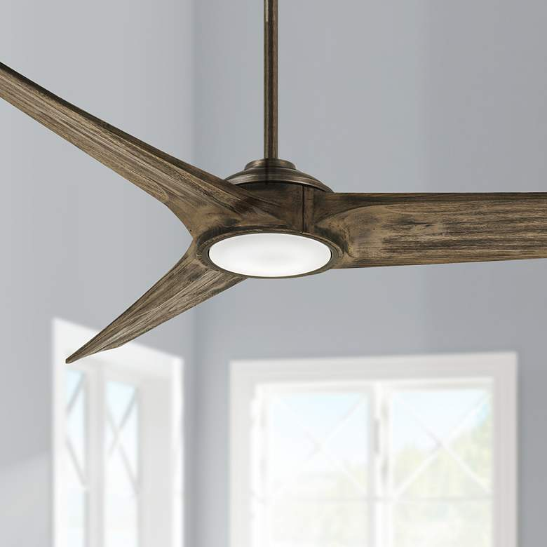 "68"" Minka Aire Timber Aged Boardwalk LED Smart Ceiling Fan"
