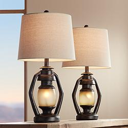 Horace Brown Miner Nightlight Table Lamps Set of 2