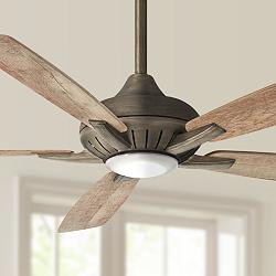 "60"" Minka Aire Dyno XL Smart Fan Bronze LED Ceiling Fan"