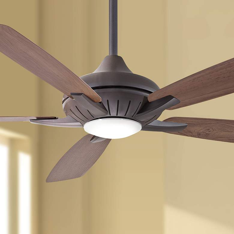 "60"" Minka Aire Dyno XL Oil-Rubbed Bronze LED Ceiling Fan"