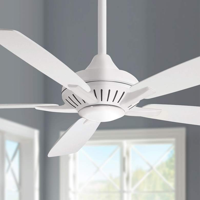 "60"" Minka Aire Dyno XL Smart Fan White LED Ceiling Fan"