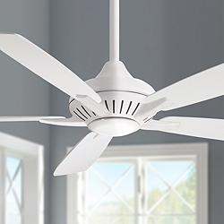 "60"" Minka Aire Dyno XL White LED Ceiling Fan"