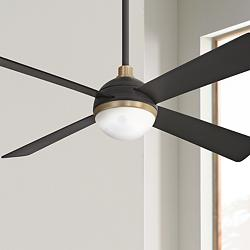 "54"" Minka Aire Orb Brushed Carbon LED Ceiling Fan"