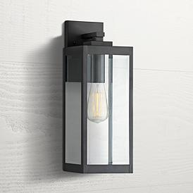 "Quoizel Westover 17"" High Earth Black Outdoor Wall Light"