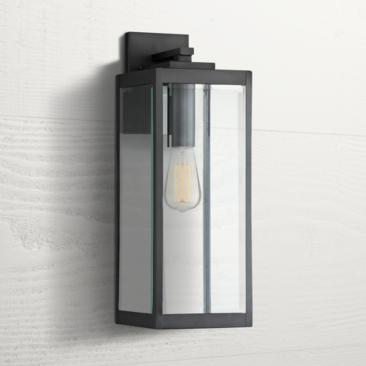 "Quoizel Westover 20"" High Earth Black Outdoor Wall Light"