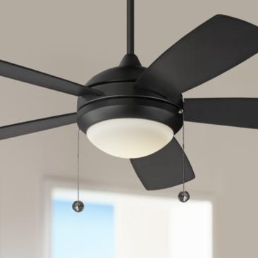 "52"" Monte Carlo Discus Matte Black LED Ceiling Fan"