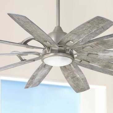 "65"" Minka Aire Barn Smart Fan Nickel LED Ceiling Fan"