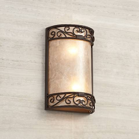 "Natural Mica Collection 12 1/2"" H LED Wall Sconce"