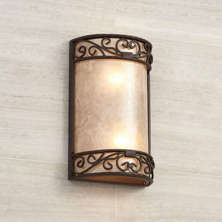 "Natural Mica Collection 12 1/2"" High Wall Sconce"