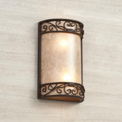 Natural Mica Ceiling and Wall Lighting Collection