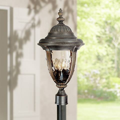 "Bellagio 24 1/2"" High Bronze 4-Light Outdoor Post Light"