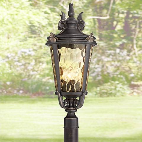 "Casa Marseille™ 28"" High Bronze 4-Light Outdoor Post Light"