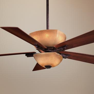 "54"" Lineage Collection Iron Oxide Finish Ceiling Fan"