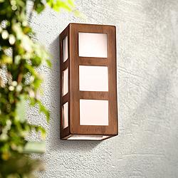 "Varien Bay 12 1/2""H Rubbed Copper Ceramic Outdoor Wall Light"