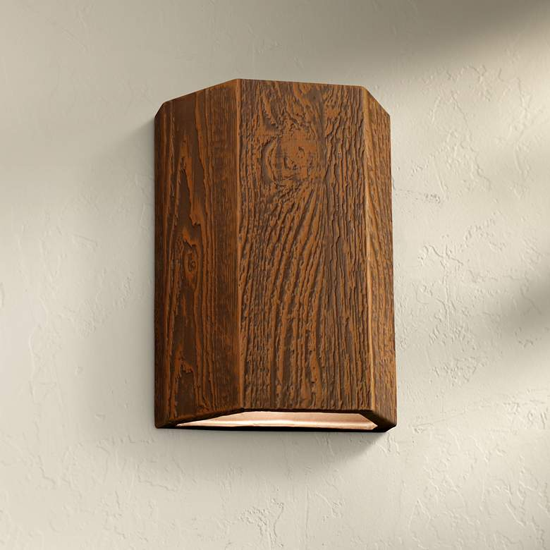 "Oakheart 13"" High Bark Ceramic 3-Sided Outdoor Wall"