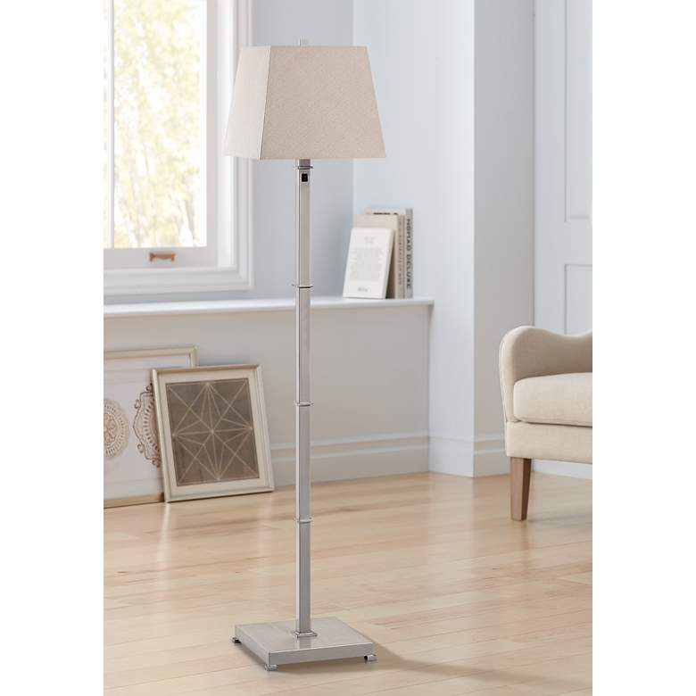 Windsor Square Brushed Nickel Metal Floor Lamp